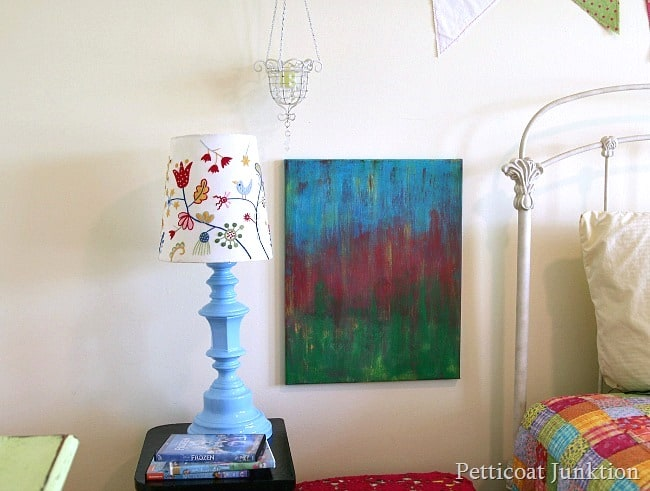 how to spray paint a brass lamp Petticoat Junktion project