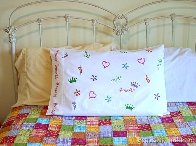 make a fun sleepover pillowcase Petticoat Junktion