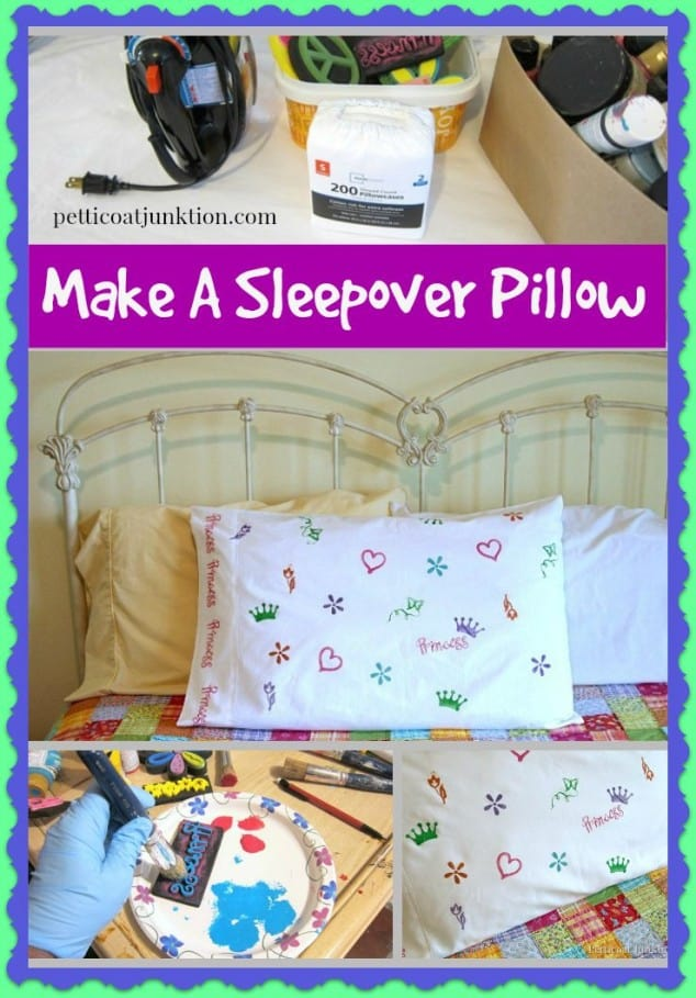 make a sleepover pillow