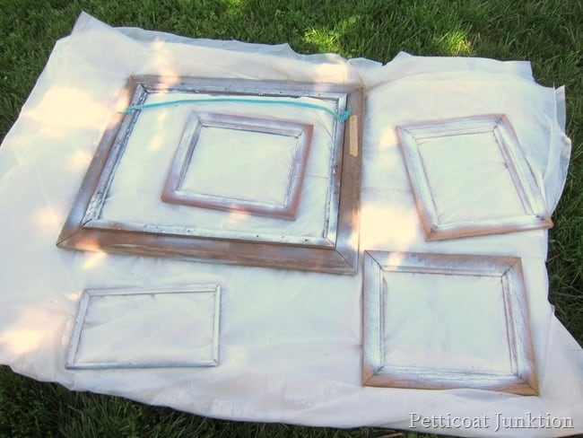 spray paint picture frames Petticoat Junktion
