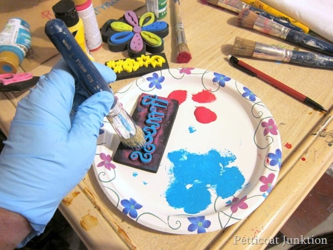 stencil brush crafts Petticoat Junktion