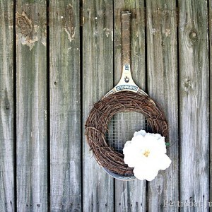 Hang It With A Tennis Racket | Spring Wreath