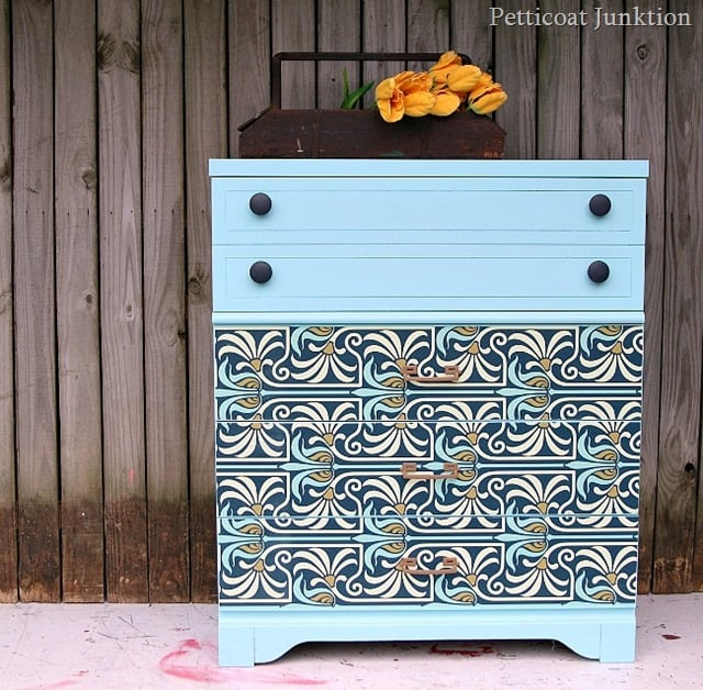 Adhesive Wallpaper Furniture Makeover