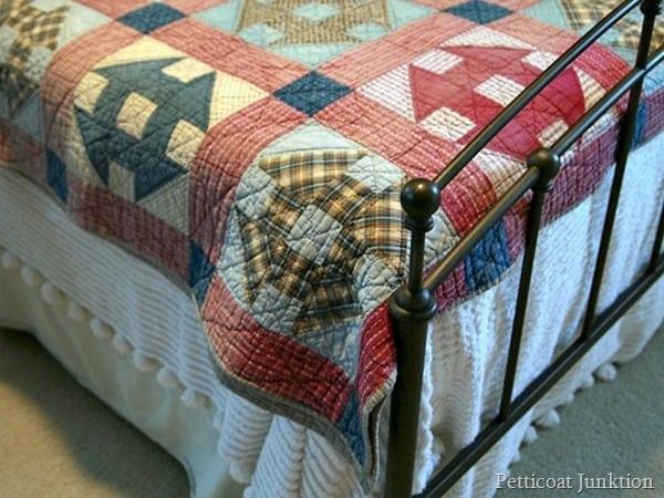 Nashville Flea Market vintage handmade  quilt find Petticoat Junktion