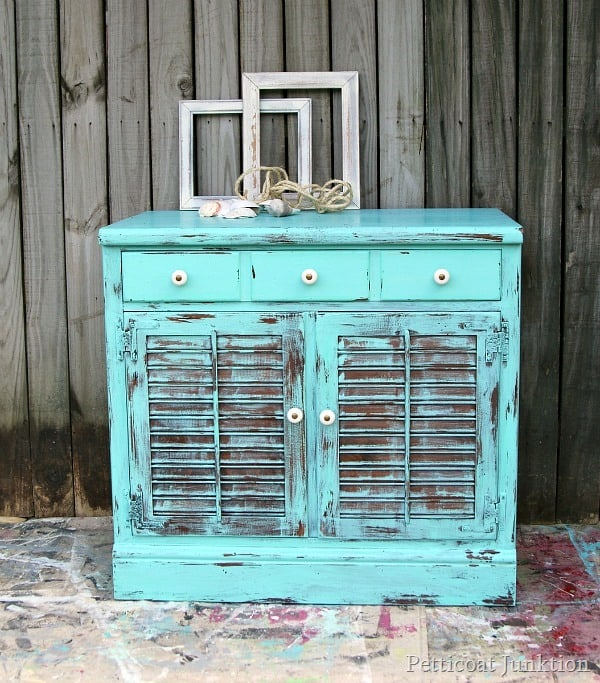 Take Me To The Beach Turquoise Furniture Petticoat Junktion - Take Me To The Beach Turquoise Furniture Makeover-Petticoat Junktion