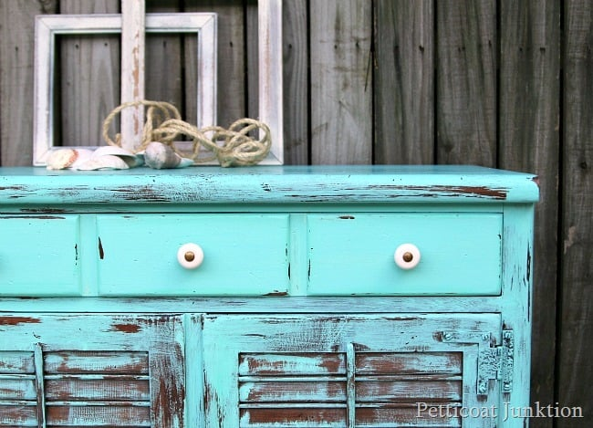Take Me To The Beach Turquoise Painted Distressed Furniture Petticoat  Junktion