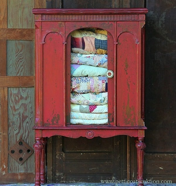 Tricycle-Red-Milk-Paint-Radio-Cabinet-Petticoat-Junktion_2