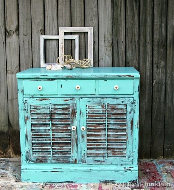 Turquoise Beach Inspired Furniture Makeover Petticoat Junktion