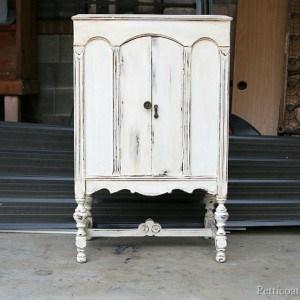 White-Paint-Heavily-Distressed-Radio-Cabinet-Redo-Petticoat-Junktion.jpg