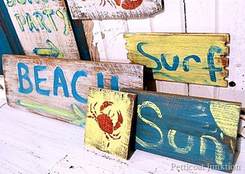 beach signs Petticoat Junktion