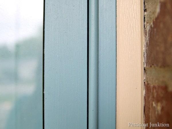 blue metal storm door Petticoat Junktion