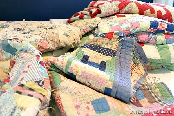 colorful handmade quilt collection Petticoat Junktion