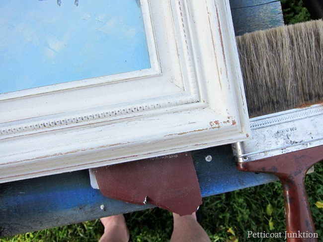 distressing paint with sandpaper Petticoat Junktion