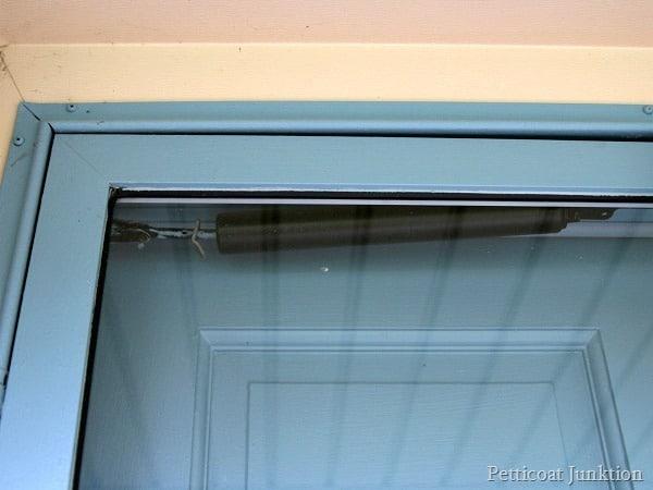 metal storm door painted Petticoat Junktion