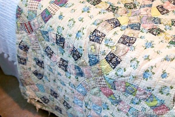 tattered vintage quilt Petticoat Junktion