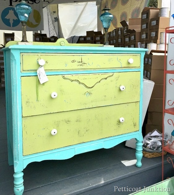 turquoise and green furniture by Cari