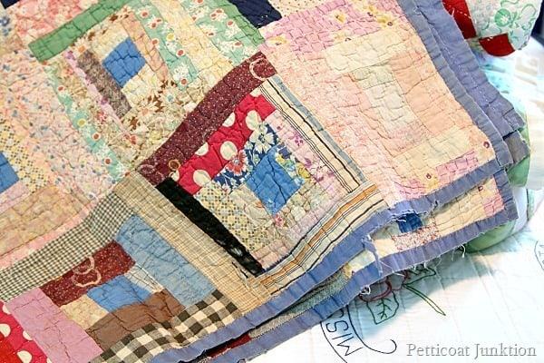 vintage floral patchwork quilt Petticoat Junktion collection