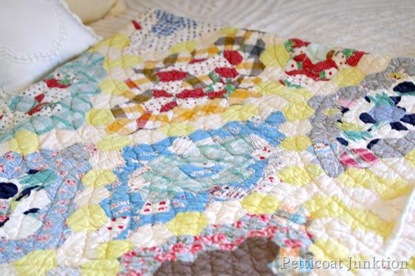 vintage handmade quilt Petticoat Junktion