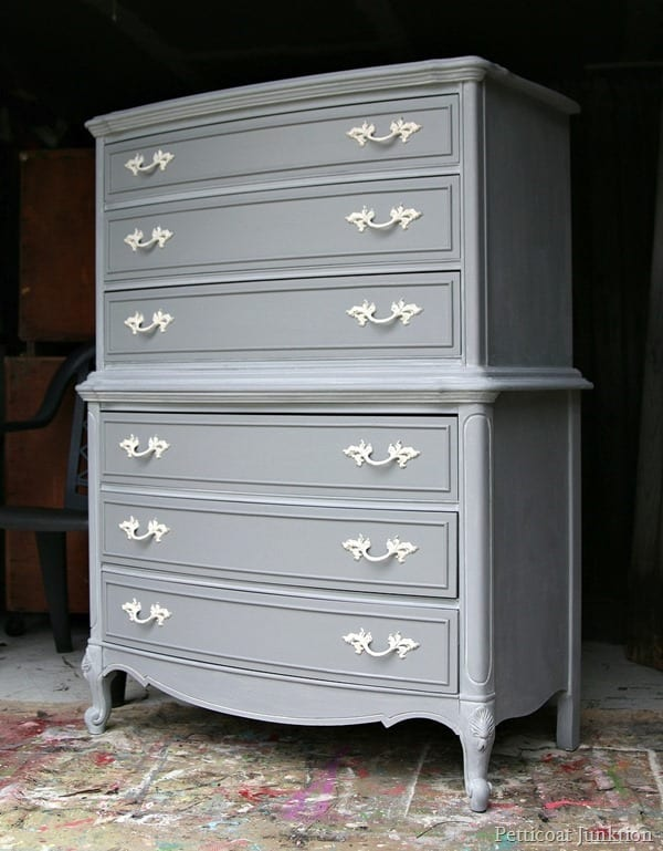 Gray Painted Furniture With Spray Hardware Petticoat Junktion