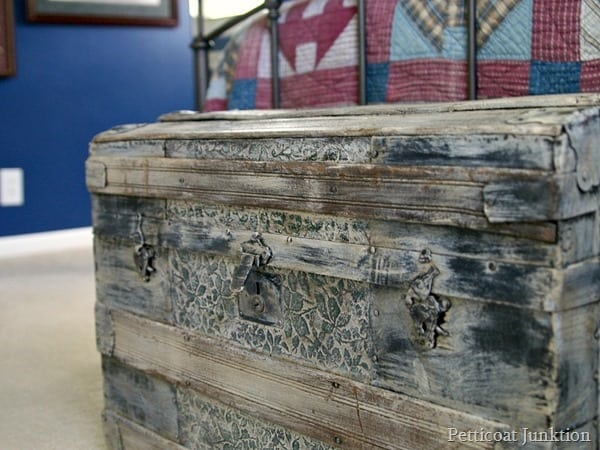 I painted an antique trunk Petticoat Junktion