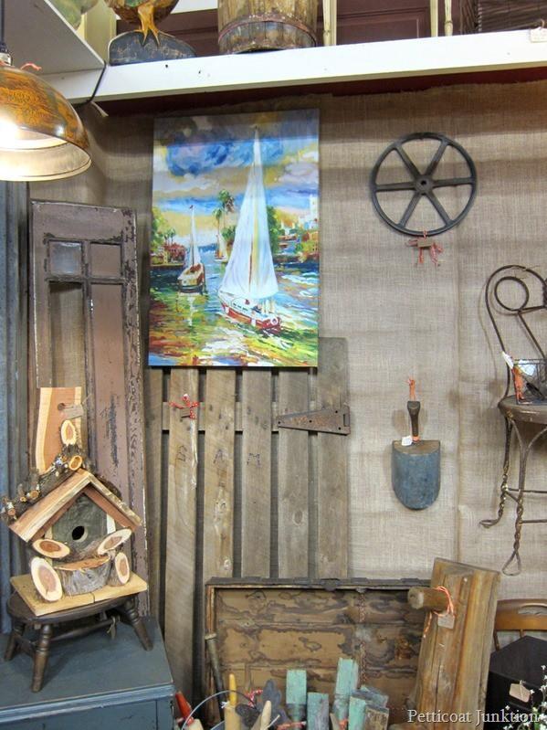 Sailboat Painting Alyssas Antique Depot 11