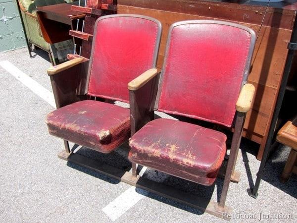 Vintage theater seating Nashville Flea Market Bucket List Petticoat Junktion