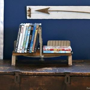 Creative DIY DVD Shelf   Junktion ReFunktion