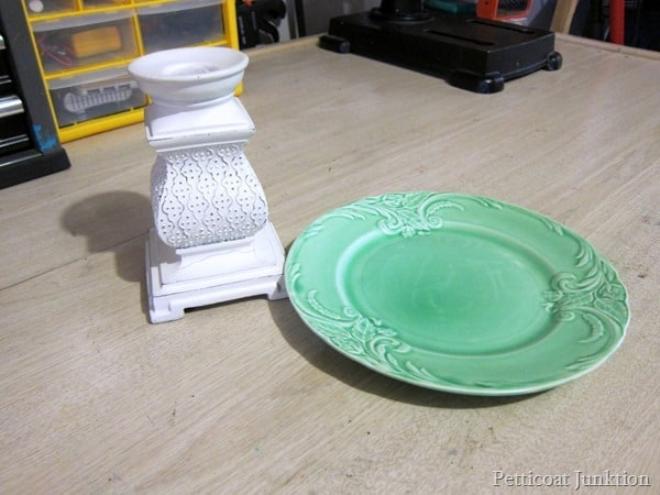plate and candle holder Petticoat Junktion