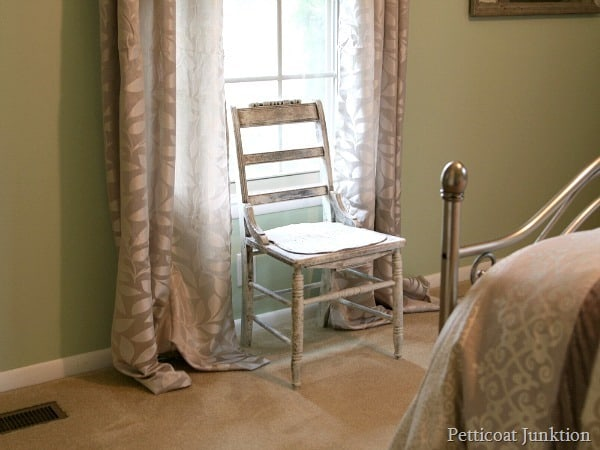 white chair Petticoat Junktion decluttering
