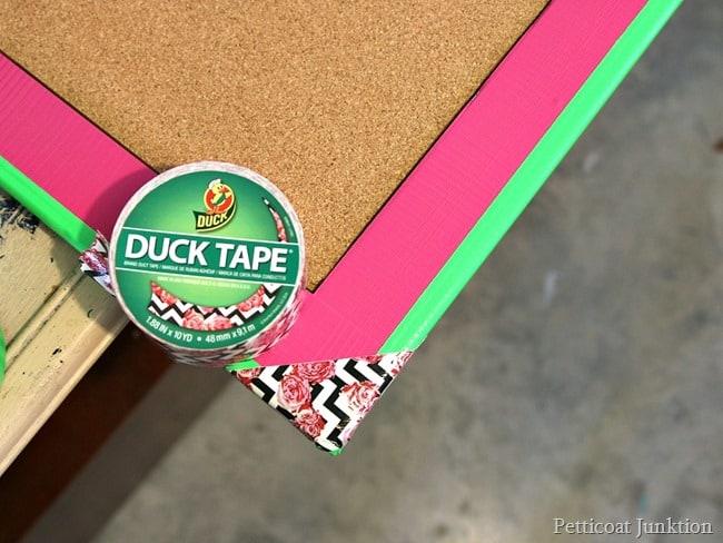 Duck Tape Brand Flower Chevron pattern Petticoat Junktion project