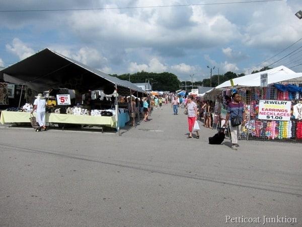 Nashville Flea Market tents Petticoat Junktion