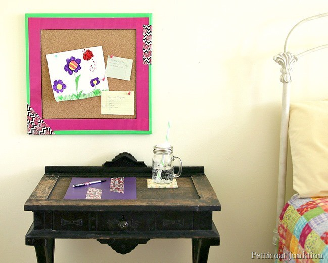create a fun study area with Duct tape Petticoat Junktion project