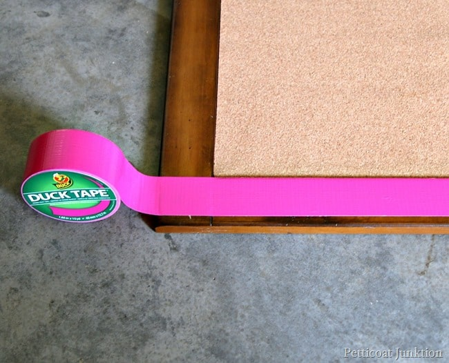 fuchsia Duck brand tape Petticoat Junktion project