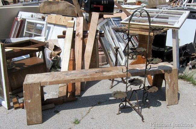 handmade bench Petticoat Junktion