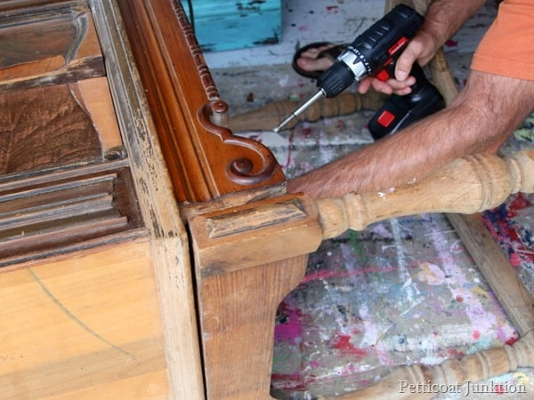 removing the radio from a vintage cabinet Petticoat Junktion