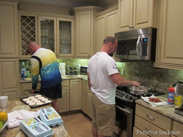 the boys cooking