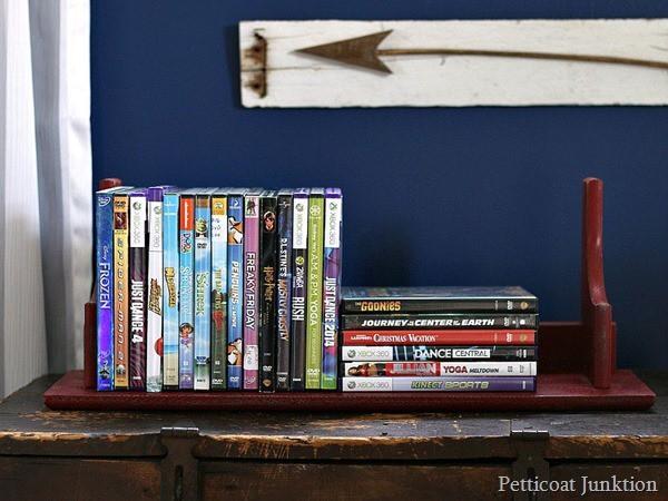 thrift store shelf flips for dvd organizer Petticoat Junktion (2)