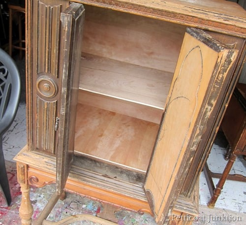 vintage radio cabinet amazing transformation Petticoat Junktion