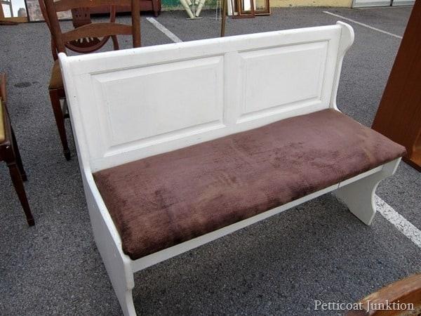white bench Nashville Flea Market purchase Petticoat Junktion