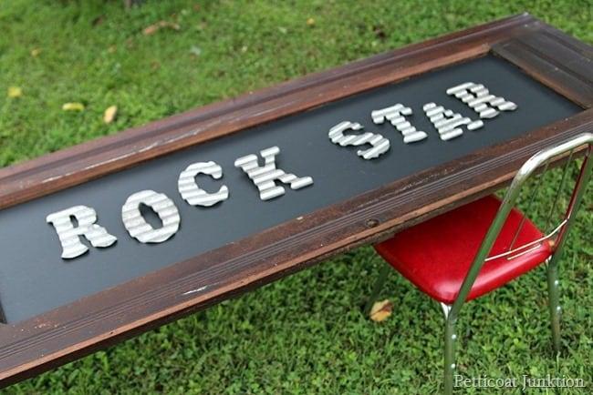 Rock Star Chalkboard Table Petticoat Junktion
