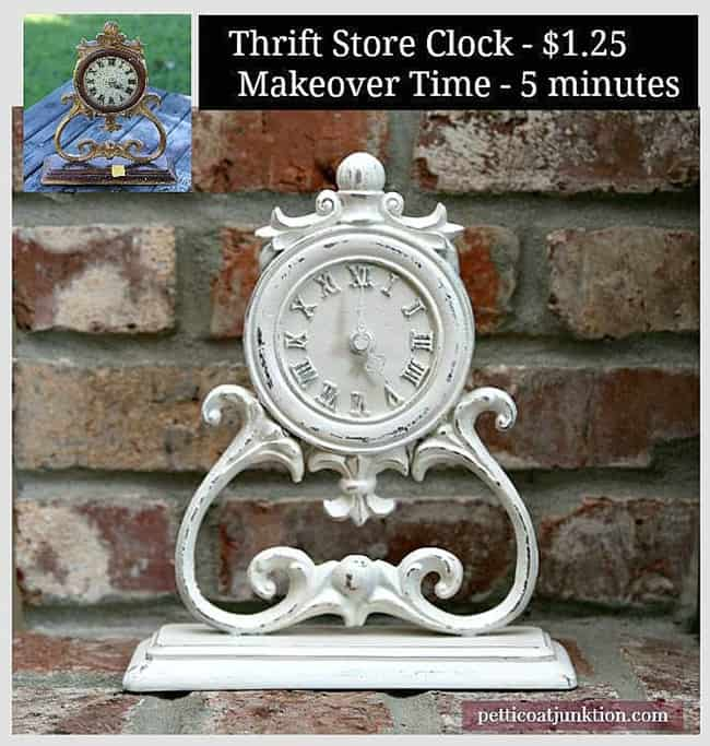 Timely Clock Makeover Petticoat Junktion five minute spray paint project