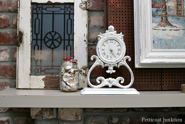 Timely Clock Makeover Petticoat Junktion spray paint project