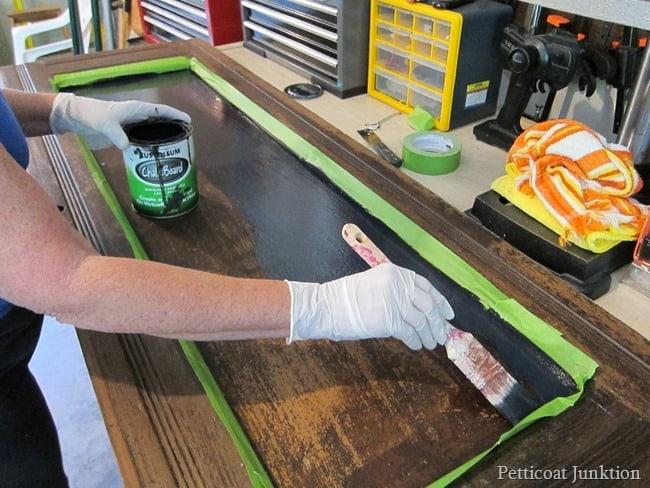 applying chalkboard paint Petticoat Junktion