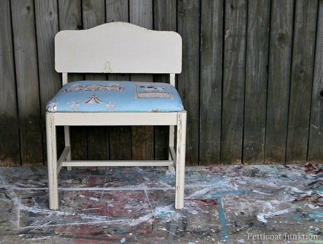 best in show puddle fabric Petticoat JUnktion furniture makeover