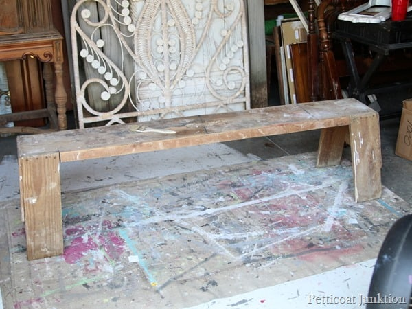 carpenters bench Petticoat Junktion project