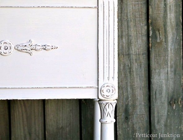 distressed white painted furniture Petticoat Junktion project
