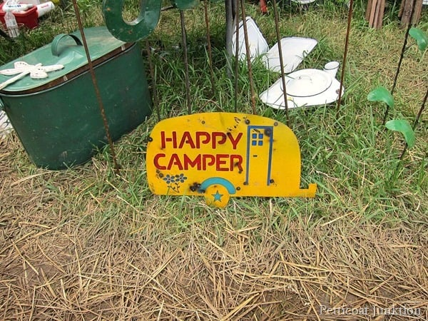 happy camper sign Petticoat Junktion 127 yard sale
