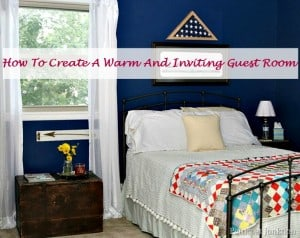 how to create a warm and inviting guest room Petticoat JUnktion project
