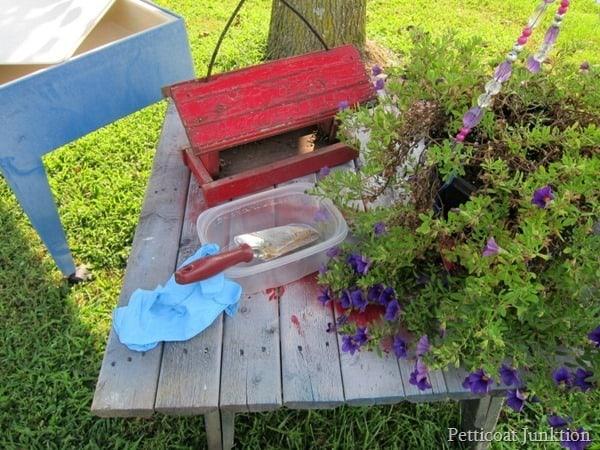 red bird feeder from Nashville Flea Market Petticoat Junktion