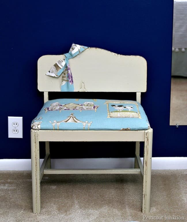 Fun Animal Print Fabric For Vintage Bench Seat Cover